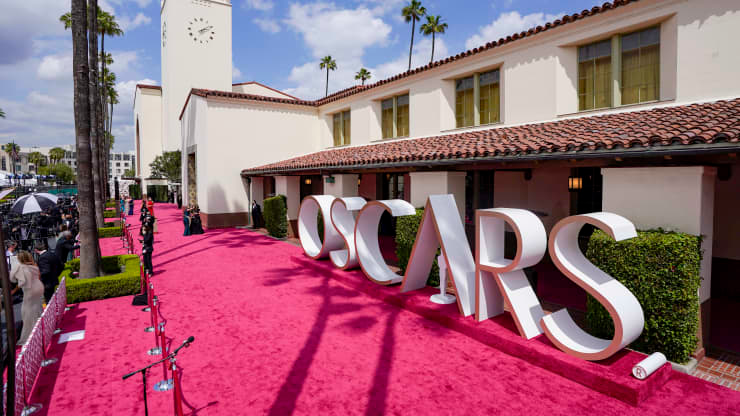 A view of the red carpet during the 93rd Annual Academy Awards at Union Station on April 25, 2021 in Los Angeles, California. Pool | Getty Images Entertainment | Getty Images