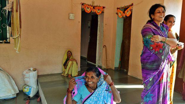 Villagers do not feel unsafe having no doors on their homes (Credit: Swati Jain)