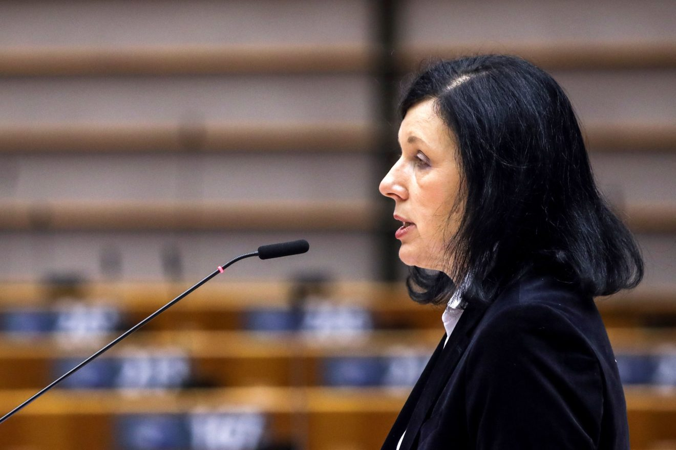 European Commission Vice President Věra Jourová | Pool photo by Yves Herman/AFP via Getty Images