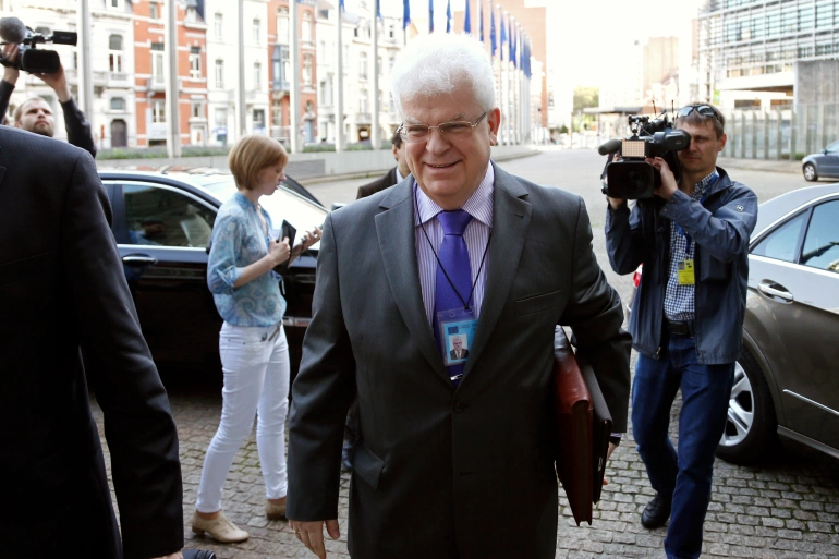 The EU Commission says Vladimir Chizhov was summoned 'to condemn the decision of the Russian authorities from last Friday to ban eight European Union nationals from entering' Russia [File: Francois Lenoir/Reuters]