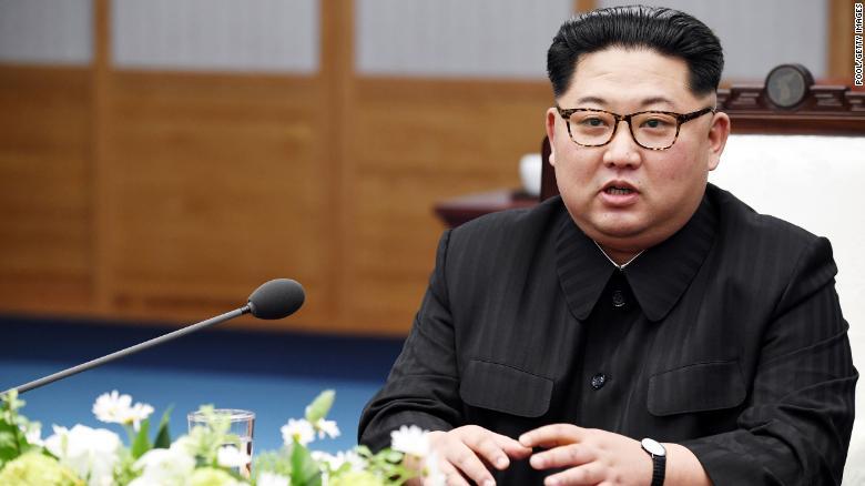 North Korean Leader Kim Jong Un speaks in April 2018 in Panmunjom, South Korea. (Photo: CNN)