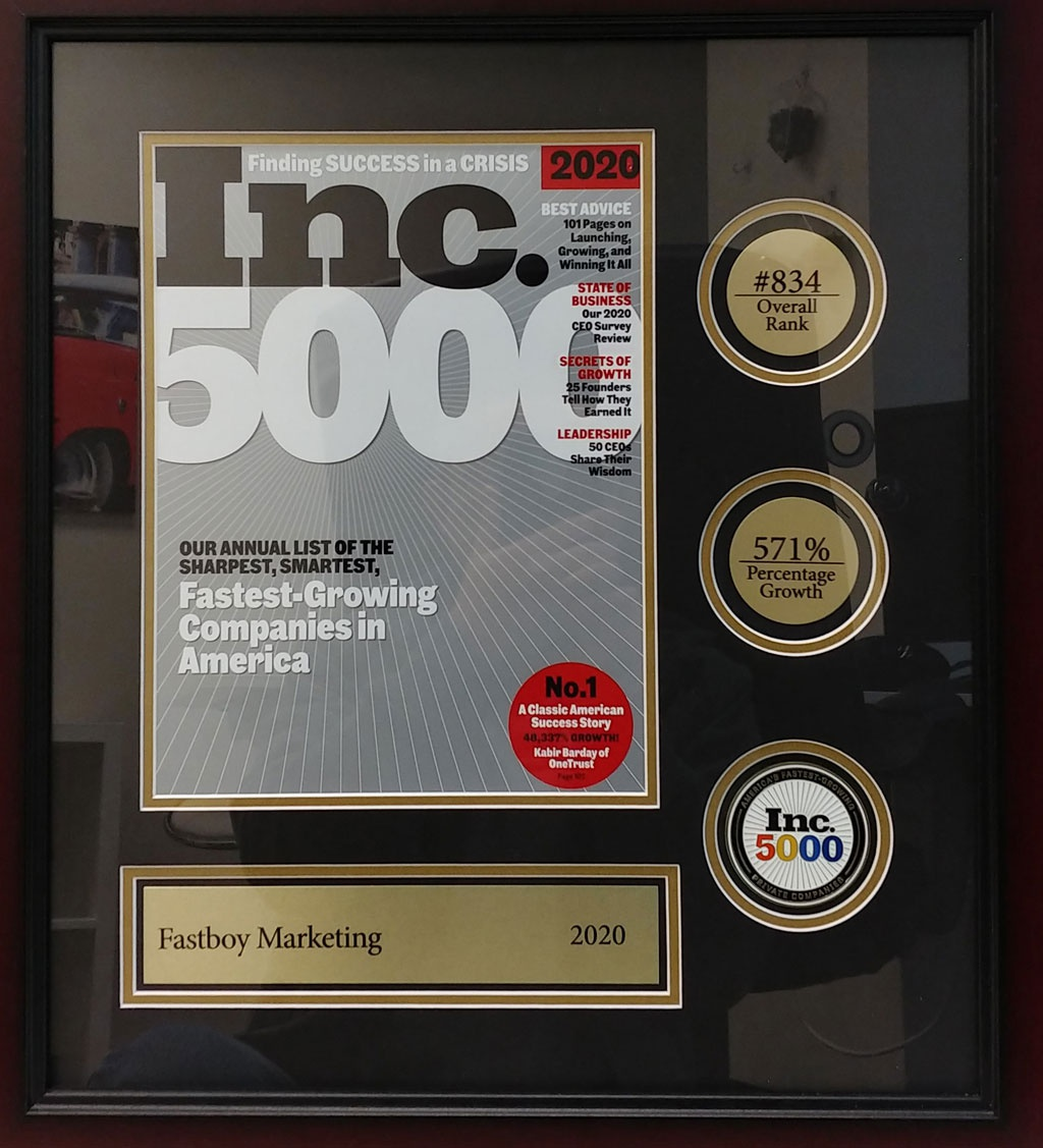 Vuong's business is ranked 834 among the top 5,000 fastest growing enterprises in America.
