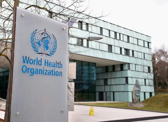 A logo is pictured outside a building of the WHO in Geneva (Photo: Reuters)