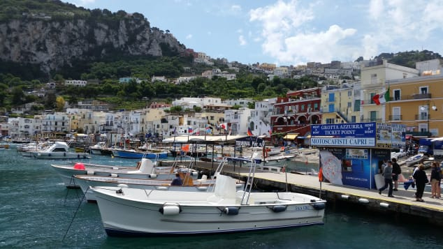 The island and its marina are normally known for high-class tourism. Daniel Slim/AFP via Getty Images