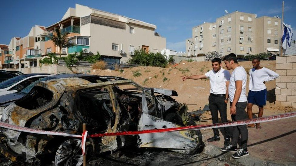 Rockets launched by Hamas have hit Ashkelon, southern Israel (Photo: Reuters)