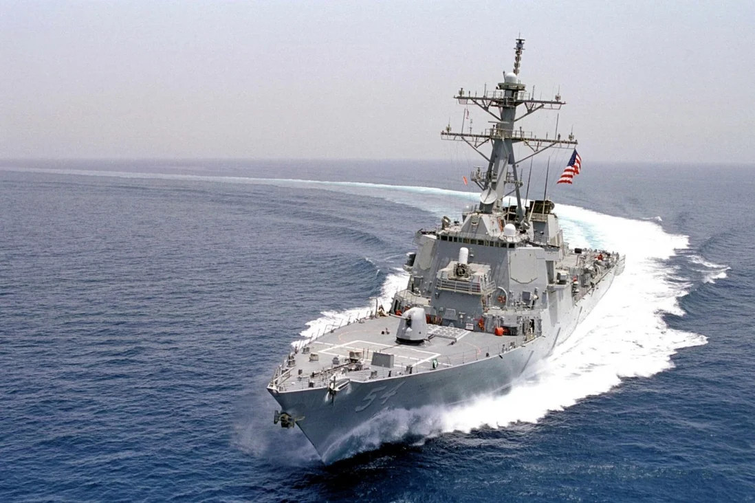 """The US Navy said guided-missile destroyer the USS Curtis Wilbur conducted a """"routine Taiwan Strait transit"""". Photo: AFP"""