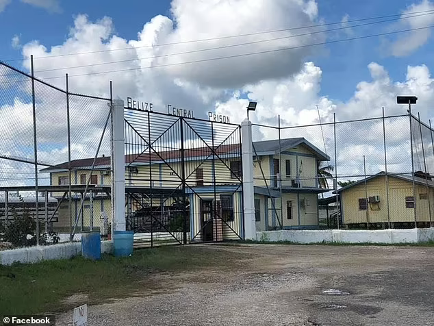 DailyMail.com has learned Hartin, who is charged with manslaughter by negligence, could soon be moved to Belize Central Prison, in Hattieville, the only correctional jail in the country. Photo: Facebook