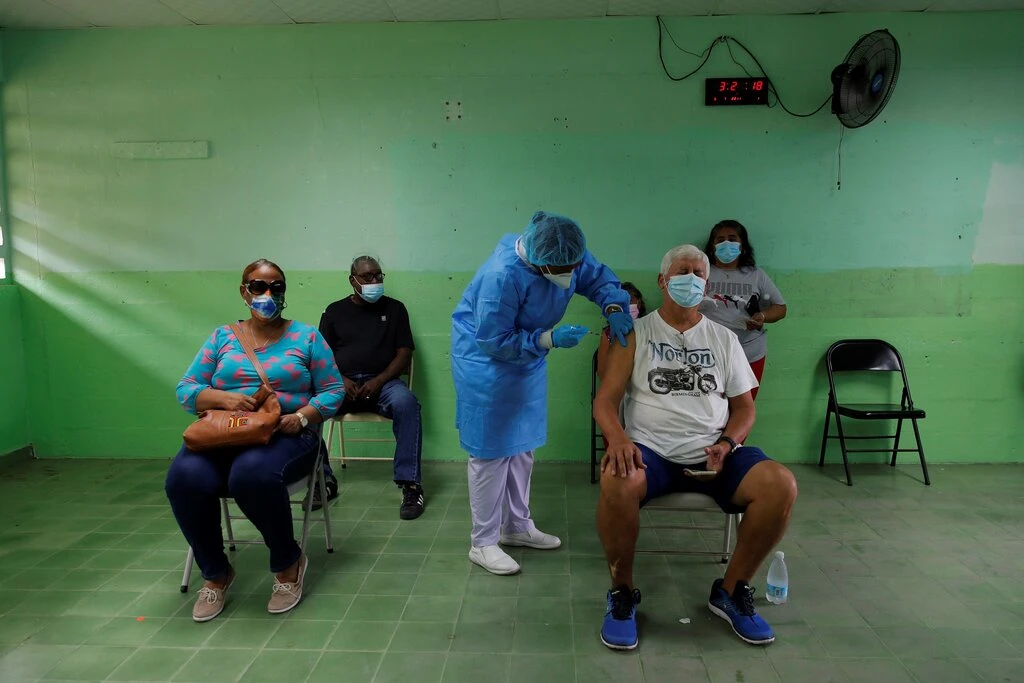 People receiving Pfizer's Covid-19 vaccine last month in San Miguelito, Panama. Photo: Shutterstock
