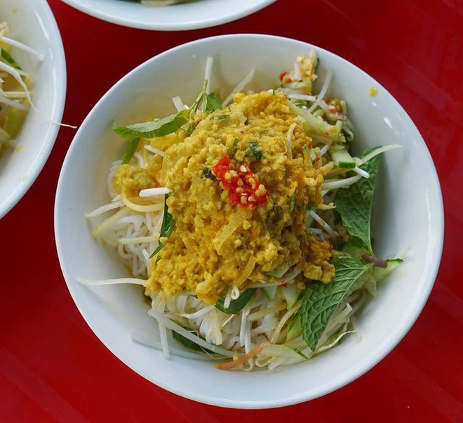 Bun ken is considered a traditional dish of Phu Quoc Island, even though it is not well-known for most tourists. Photo: Dantri