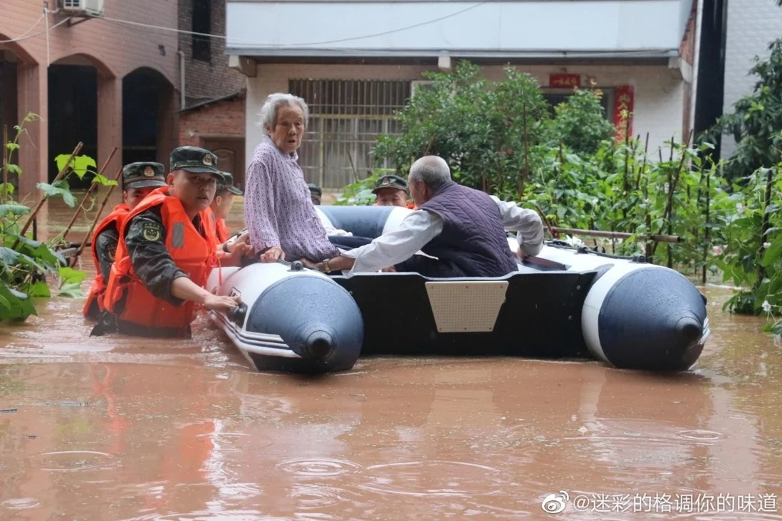 Thousands of residents in Dazhou have been evacuated from their homes. Photo: Weibo