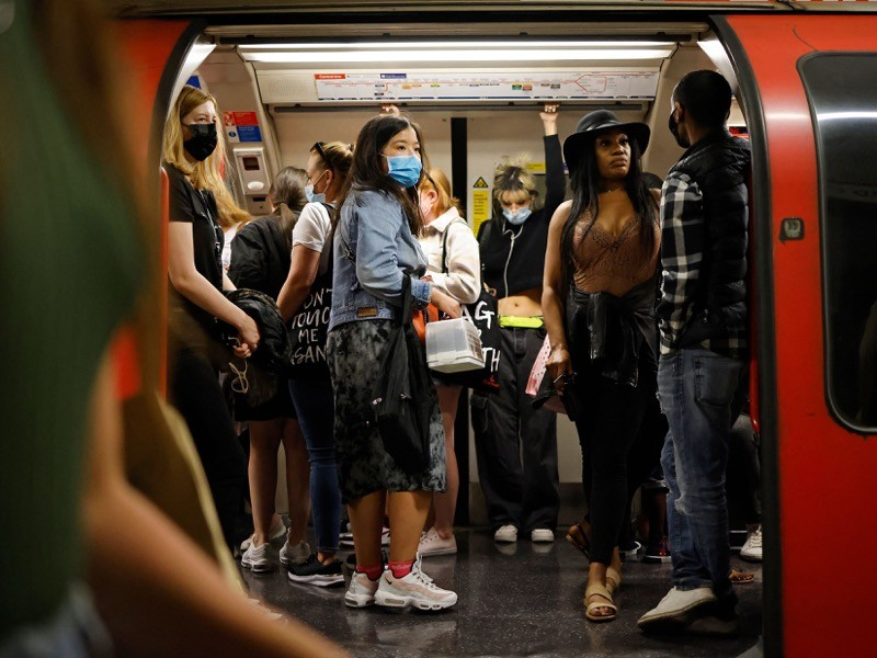 A crowded train on the London Underground in June.Credit: Tolga Akmen/AFP/Getty