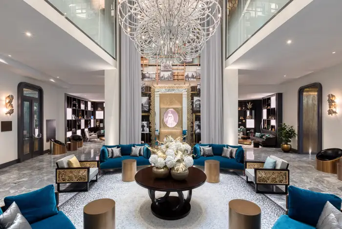 The lobby of the Matild Palace Hotel. Matild Palace/The Luxury Collection