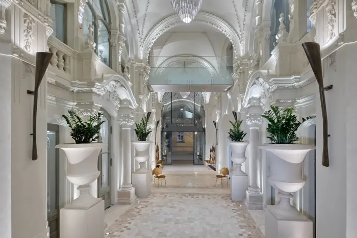 The hotel's historical passage. Matild Palace/The Luxury Collection