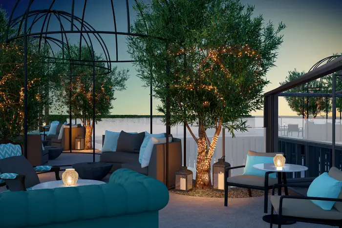 The terrace. Matild Palace/The Luxury Collection