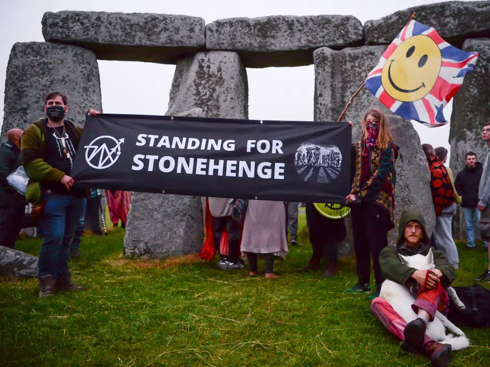 Campaigners pushed back on the decision, including Senior druid Arthur Uther Pendragon  (Getty Images)