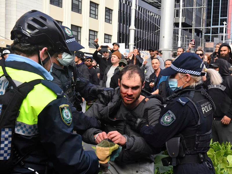 Australia: Protests and Violence Broke Out On Streets Against Lockdown Restrictions