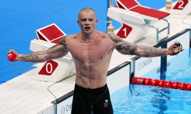Adam Peaty is now a double Olympic champion after his victory in the 100m breaststroke at Tokyo 2020. Photograph: Dave Shopland/REX/Shutterstock
