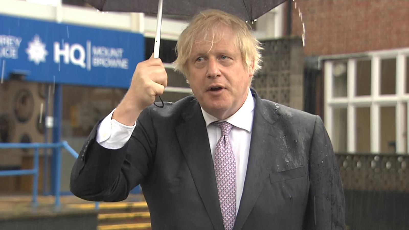 Boris Johnson stressed the need for caution despite recent falls in the number of cases. Photo: SkyNews