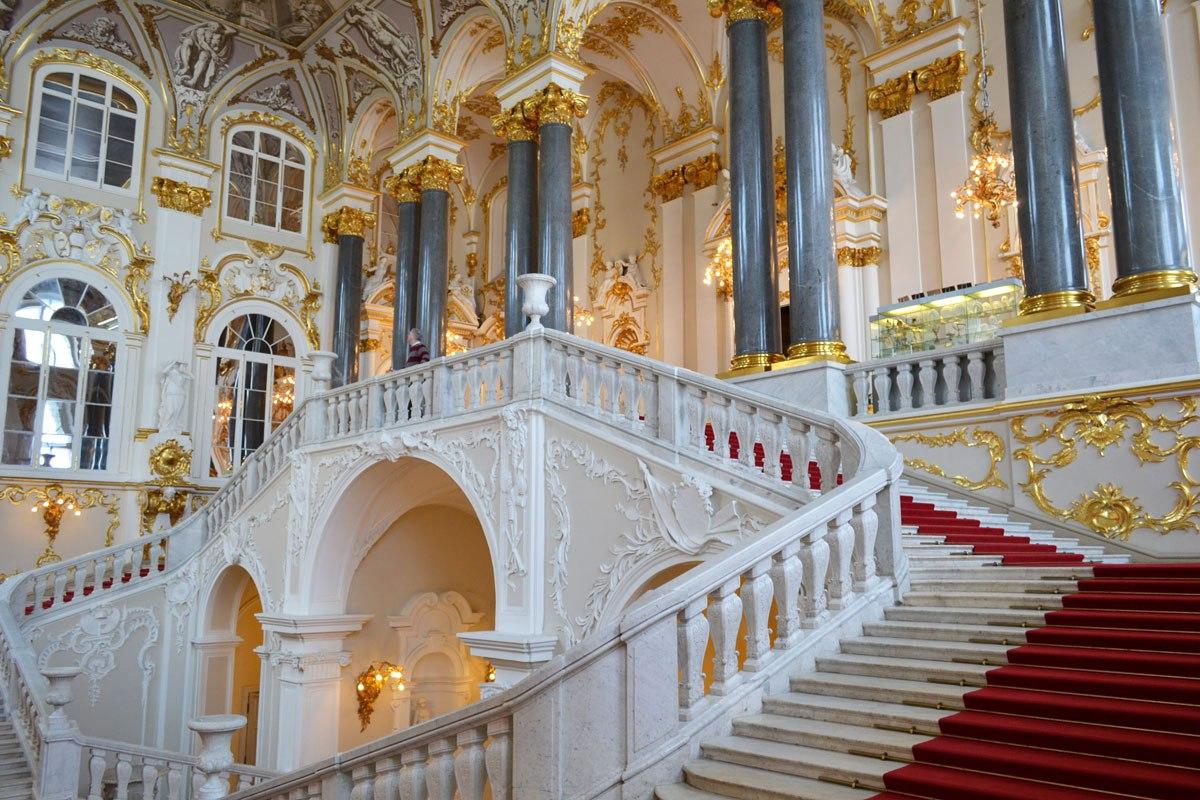 Inside Winter Palace, St Petersburg, Russia