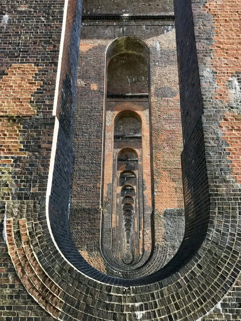 Looking through the arched vaulting underneath the viaduct.  (Image: Martin Burton/SussexLive)