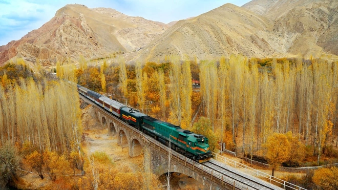 The Trans-Iranian Railway is a new addition to the UNESCO list. The railway runs through mountainous landscapes, connecting the Caspian Sea with the Persian Gulf. Hossein Javadi/UNESCO