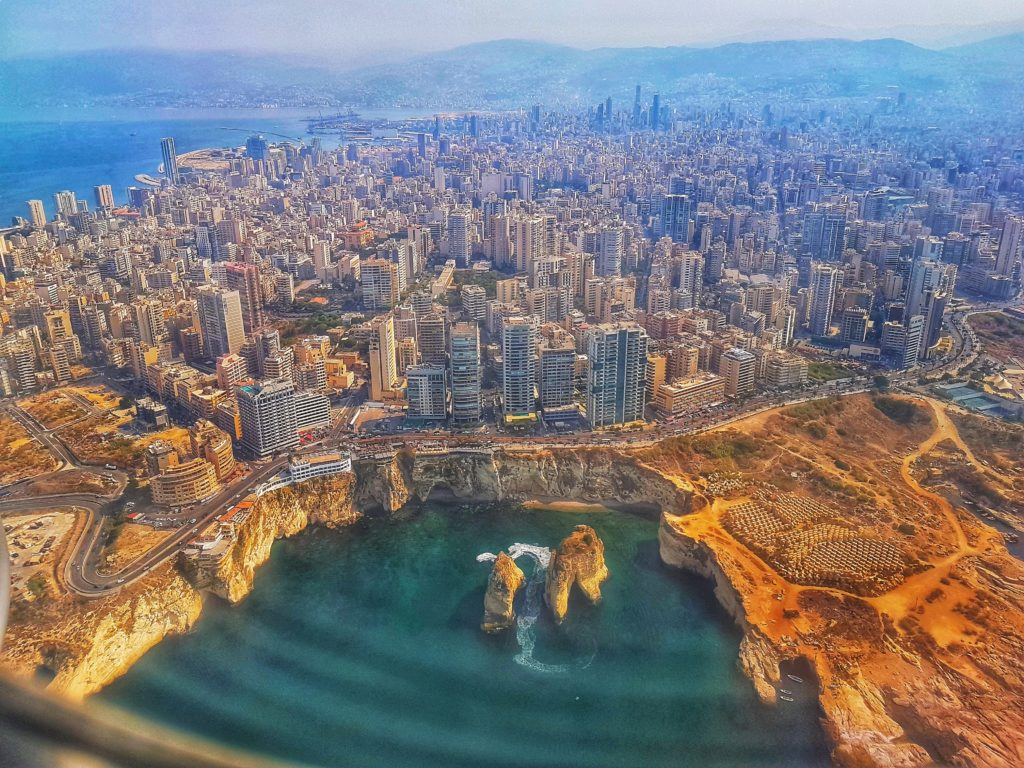 View of modern-day Beirut and the Beirut metropolitan area, Source: Pexels