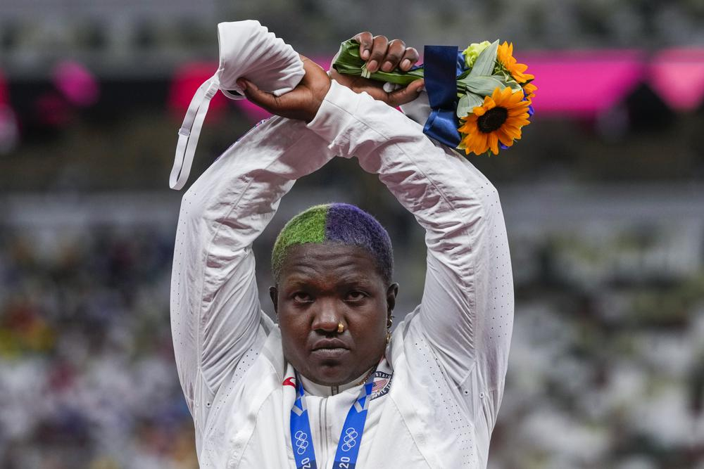 Olympic Story of X Symbol: Incredible Raven Saunders Raises Her Voice at The Olympics