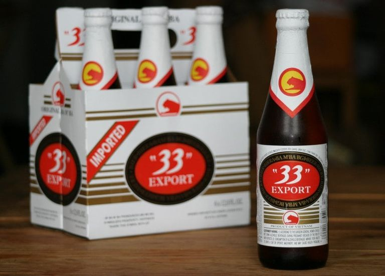 33 Export was Vietnam's first exported beer. Its successor, Bia 333, is well-known for its southern heritage. Photo: Vietcetera