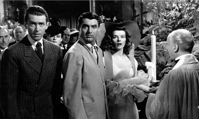 Highly imitable but utterly unique … James Stewart, Cary Grant and Katharine Hepburn in The Philadelphia Story. Photograph: Ronald Grant Archive