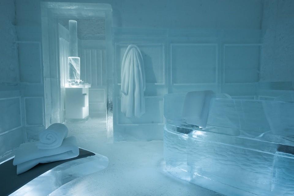 ICEHOTEL sauna. Photo: Ice Hotel