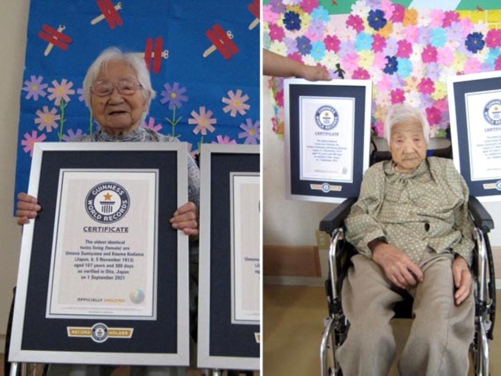 New Guinness Record: 107-Year-Old Japanese Sisters Are the World's Oldest Identical Twins