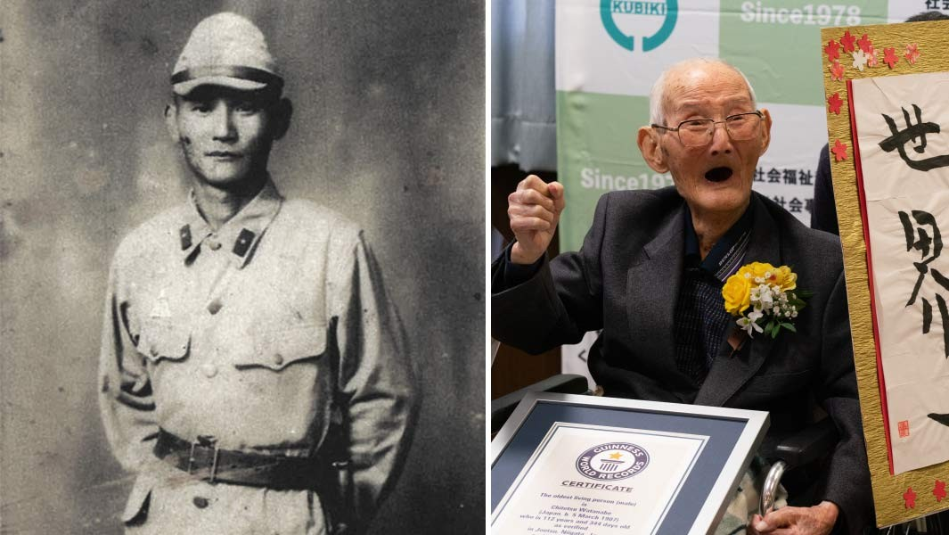 Japan's Chitetsu Watanabe confirmed as the world's oldest man living at 112 years old. Photo: Guinness World Records