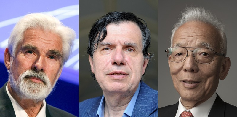 2021 Physics Nobel laureates Klaus Hasselmann, Giorgio Parisi and Syukuro Manabe.Credit: J J Guillen/EPA/Shutterstock; Tania/Contrasto/Eyevine; Markus Marcetic, the Royal Swedish Academy of Sciences