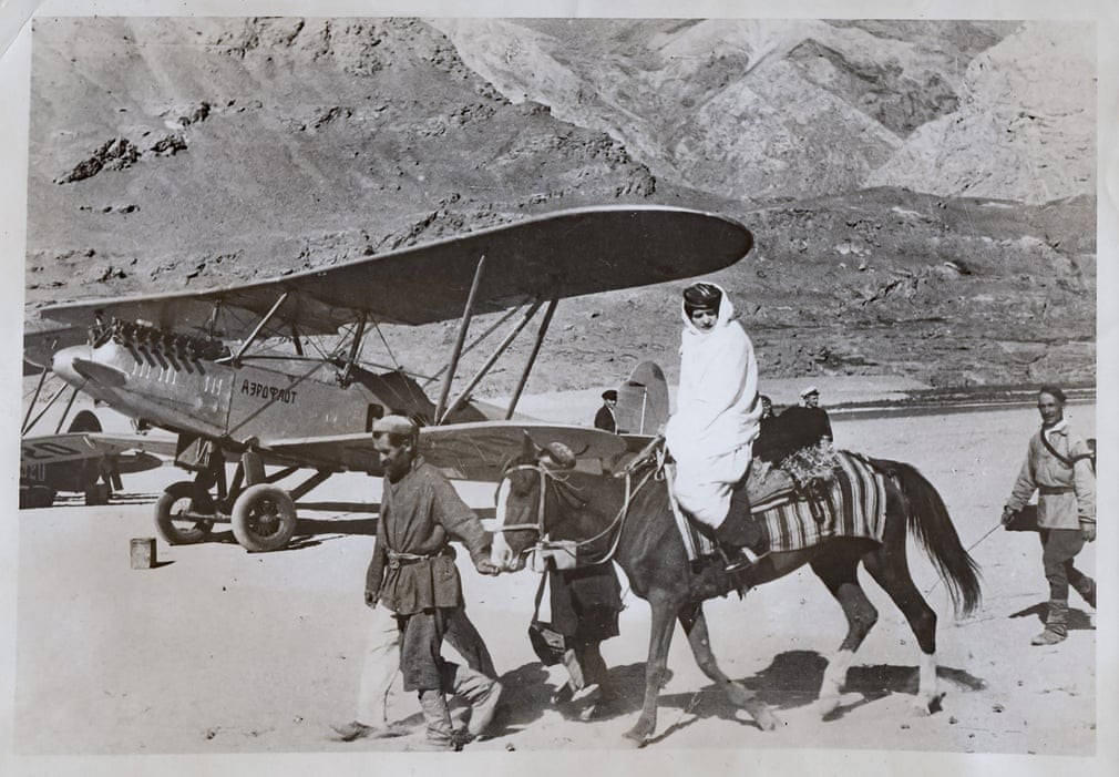 In the 30s, most of the Aeroflot fleet consisted of biplanes, like this one pictured in Khorog, a city in the Pamir mountains of Tajikistan. The route over the range is still considered one of the world's most dangerous air journeys