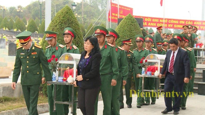 dien bien reburial service held for 15 soldier remains repatriated from laos