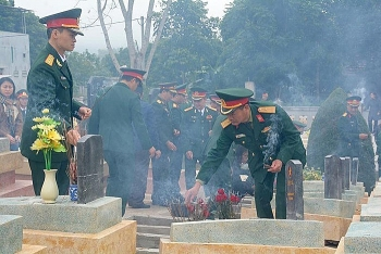 Dien Bien: Reburial service held for 15 soldier remains repatriated from Laos