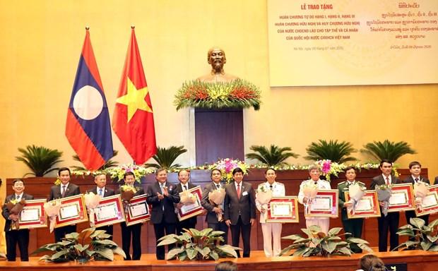laos honours vietnams national assembly organisations individuals