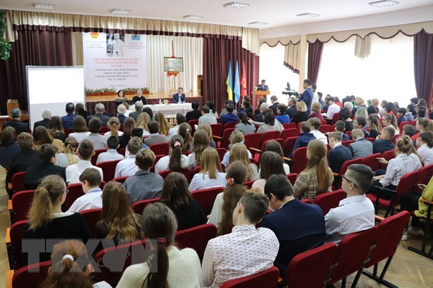 workshop on president ho chi minh held in kiev based high school named after the president
