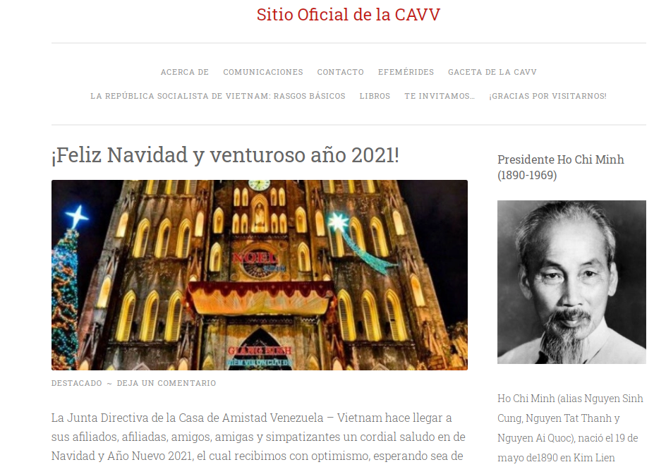 Venezuela Vietnam Friendship Association officially launches e-portal
