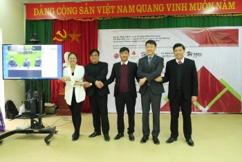 happy village built for muong ethnic people
