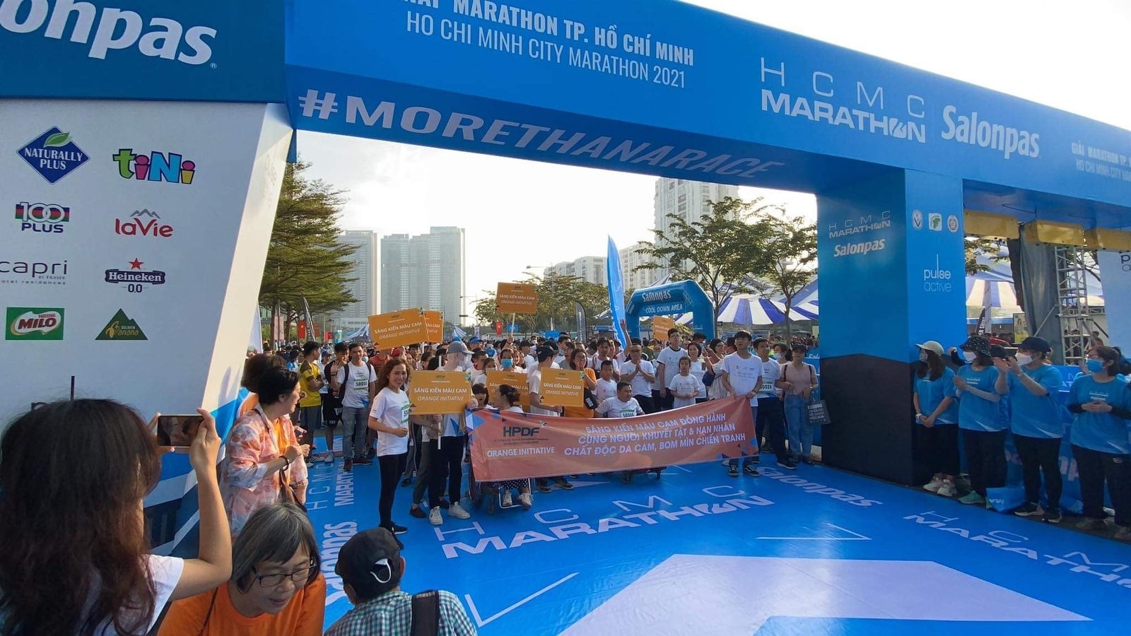 Orange initiative at hcmc marathon 2021