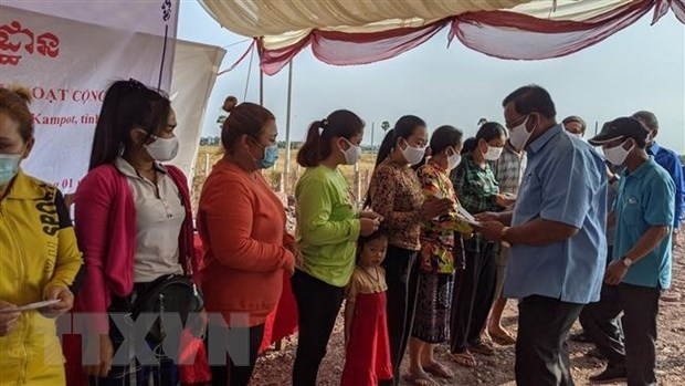 Ground breaking ceremony for communal house for Vietnamese-Cambodians