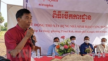 ground breaking ceremony for communal house for vietnamese cambodians