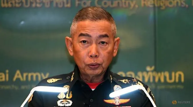 tearful thai army chief says dont blame army for rogue soldiers mass shooting