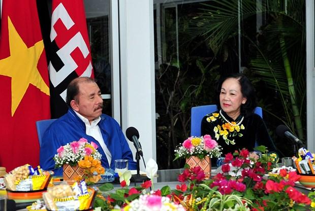 ruling parties of vietnam nicaragua enhance ties