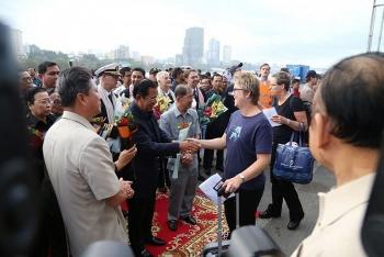 Cambodia's PM Hun Sen personally welcomes MS Westerdam cruise ship
