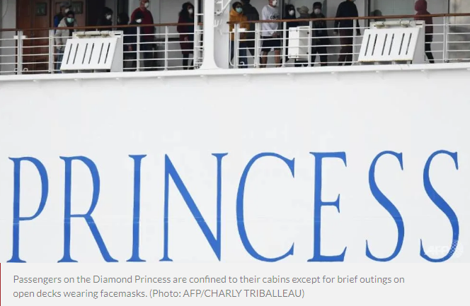 Countries to evacuate citizens on Diamond Princess ship while COVID-19 cases keep rising