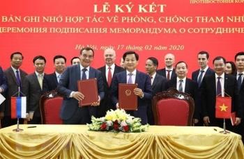Vietnam, Russia upgrade anti-corruption cooperation