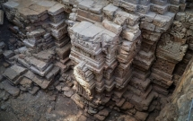relics of 1000 year old temple architecture found