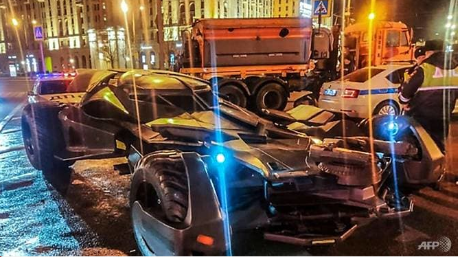 homemade batmobile towed away by moscow police